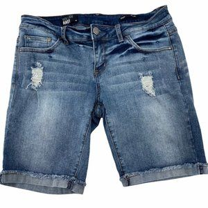 WILLIAM RAST STONE WASH DISTRESSED CUT OFF SHORTS